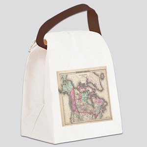 Vintage Map of Canada (1857) Canvas Lunch Bag