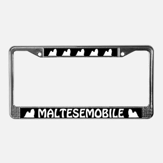 Maltesemobile License Plate Frame