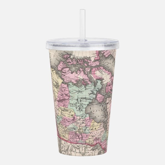 Vintage Map of Canada Acrylic Double-wall Tumbler