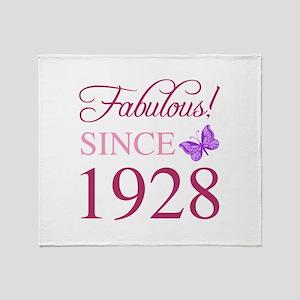 1928 Fabulous Birthday Throw Blanket