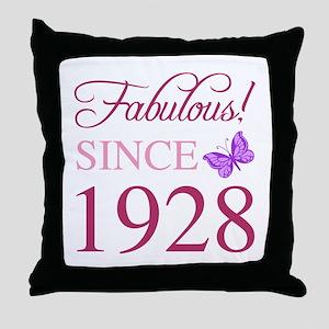 1928 Fabulous Birthday Throw Pillow