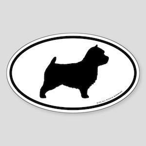 Norwich Terrier Oval Sticker