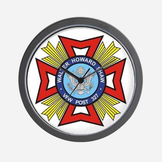 VFW Post 327 logo Wall Clock