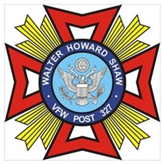 VFW Post 327 logo Poster
