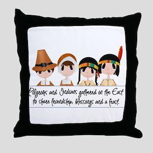 Pilgrim Poem Throw Pillow