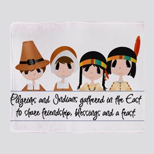 Pilgrim Poem Throw Blanket