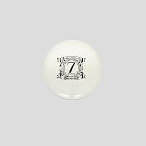 7th Traditional gift Wedding anniversa Mini Button