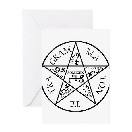 Black Pentagram of Solomon Greeting Card