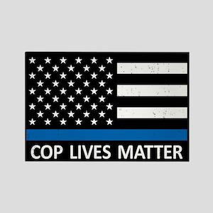 Cop Lives Matter Rectangle Magnet