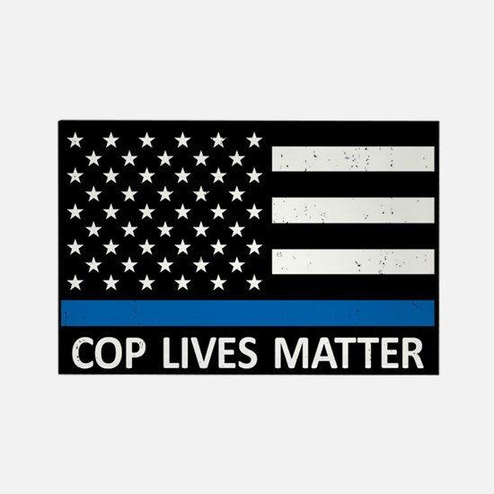 Cop Lives Matter Rectangle Magnet