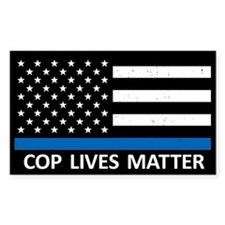 Cop Lives Matter Sticker (Rectangle)
