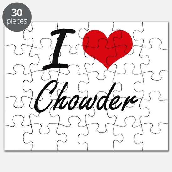 I love Chowder Artistic Design Puzzle