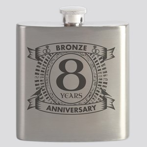 8th bronze traditional Wedding anniversary Flask
