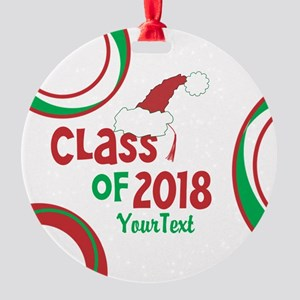 Personalized Class of 2018 Christmas Ornament