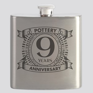9th pottery traditional Wedding anniversary Flask