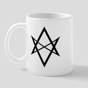 Black Unicursal Hexagram Mug