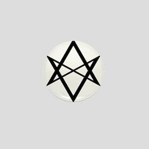Black Unicursal Hexagram Mini Button