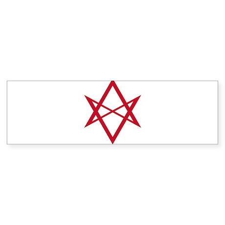 Red Unicursal Hexagram Bumper Sticker