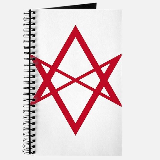 Red Unicursal Hexagram Journal