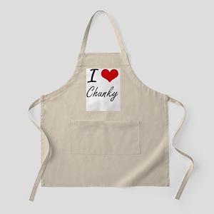 I love Chunky Artistic Design Apron