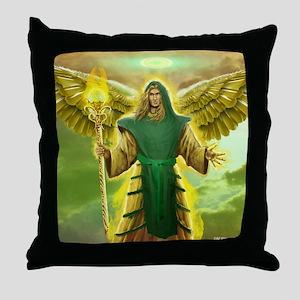 St. Archangel Raphael Throw Pillow
