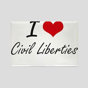 I love Civil Liberties Artistic Design Magnets