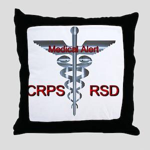 CRPS / RSD Medical Alert Throw Pillow