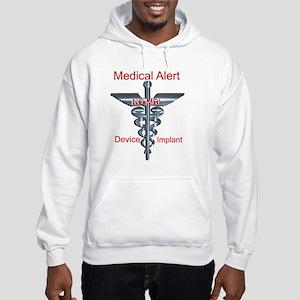 NO MRI Medical Alert - Device Im Hooded Sweatshirt