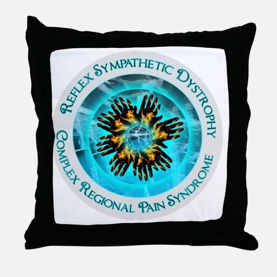 CRPS RSD Blazing Hand Starburst on Du Throw Pillow