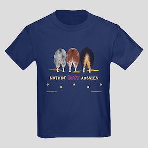 Nothin' Butt Aussies Kids Dark T-Shirt
