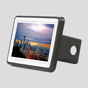 Seattle Skyline at Sunset  Rectangular Hitch Cover