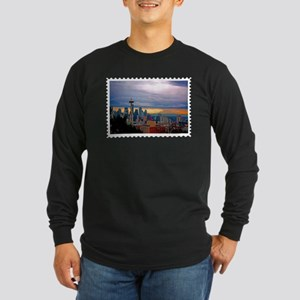 Seattle Skyline at Sunset Stam Long Sleeve T-Shirt