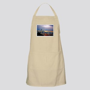 Seattle Skyline at Sunset Stamp Apron