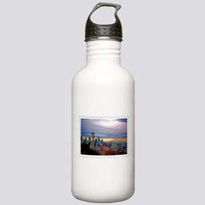 Seattle Skyline at Sun Stainless Water Bottle 1.0L