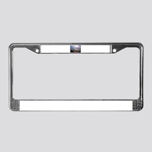 Seattle Skyline at Sunset Stam License Plate Frame