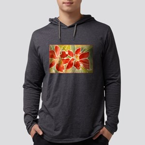 Red orchids! Beautiful art! Long Sleeve T-Shirt