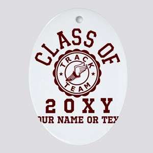 Class of 20?? Track Oval Ornament