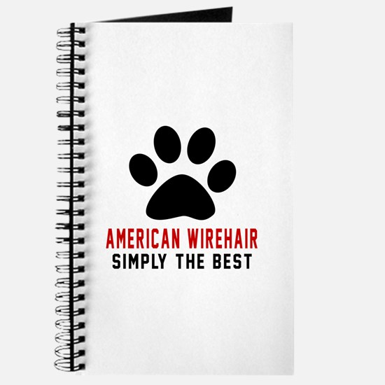 American Wirehair Simply The Best Cat Desi Journal