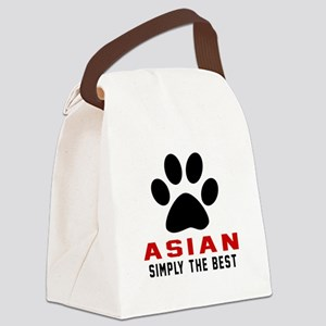 Asian Simply The Best Cat Designs Canvas Lunch Bag