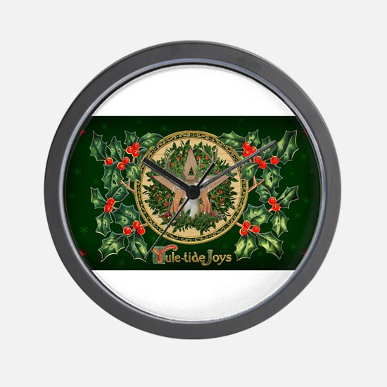 Yuletide Joys Wall Clock