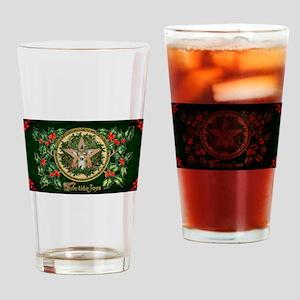 Yuletide Joys Drinking Glass