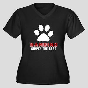 Bambino Simp Women's Plus Size V-Neck Dark T-Shirt