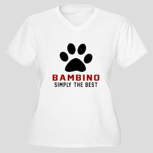 Bambino Simply Th Women's Plus Size V-Neck T-Shirt