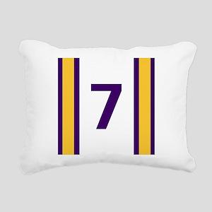 Purple and Gold Seven Rectangular Canvas Pillow