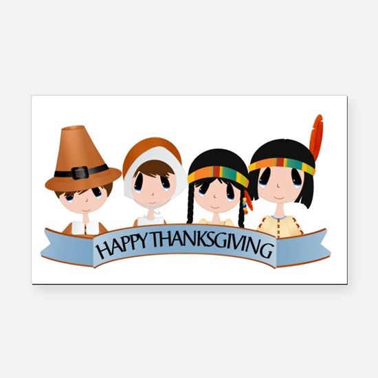 Happy Thanksgivng Rectangle Car Magnet