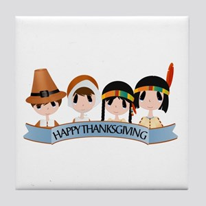 Happy Thanksgivng Tile Coaster