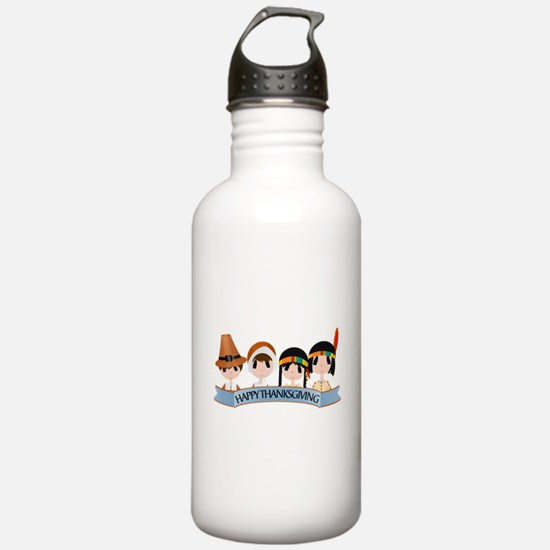 Happy Thanksgivng Water Bottle