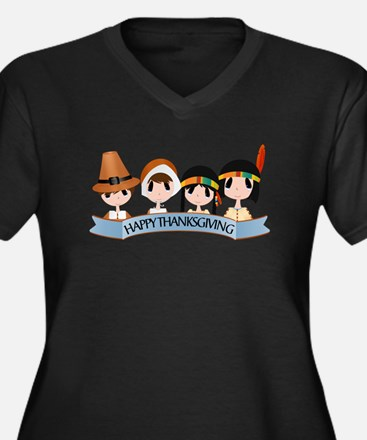Happy Thanksgivng Plus Size T-Shirt