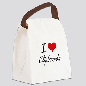 I Love Clipboards Artistic Design Canvas Lunch Bag