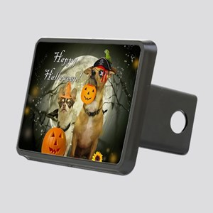 Happy Halloween Chihuahuas Rectangular Hitch Cover